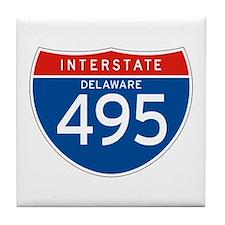 Interstate 495 - DE Tile Coaster