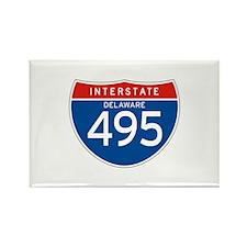 Interstate 495 - DE Rectangle Magnet