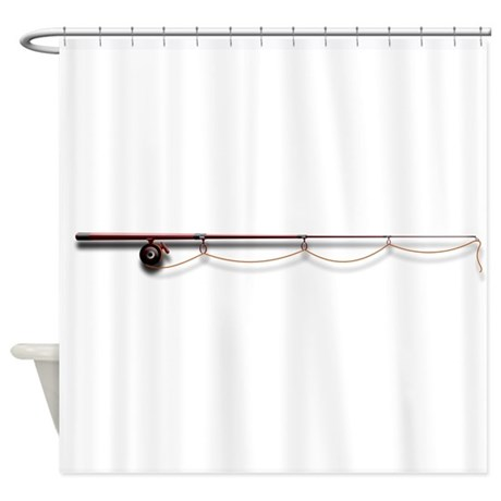 Fishing Rod Shower Curtain By Giftsforafisherman