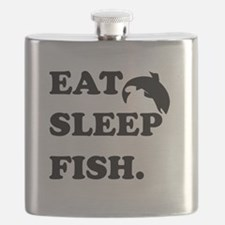 Eat Sleep Fish Flask
