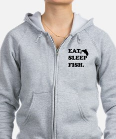 Eat Sleep Fish Zip Hoodie