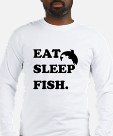Eat Sleep Fish Long Sleeve T-Shirt