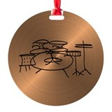 Drummer Round Ornament