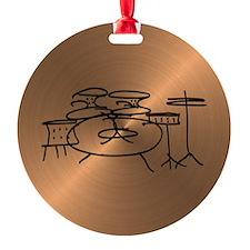 Unique Drummer Round Ornament
