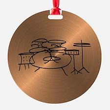Cute Drummer Round Ornament