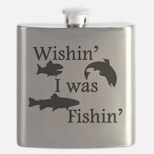Wishin I Was Fishin Flask