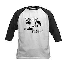 Wishin I Was Fishin Baseball Jersey