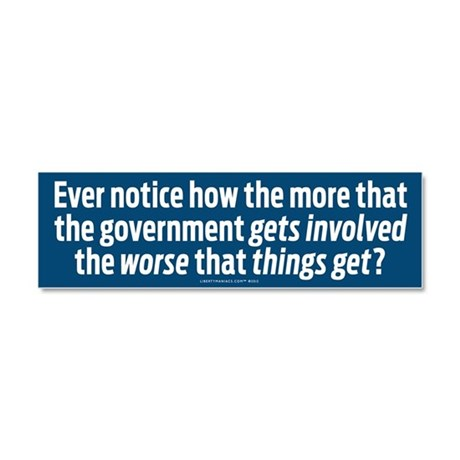 More is Worse Car Magnet 10 x 3