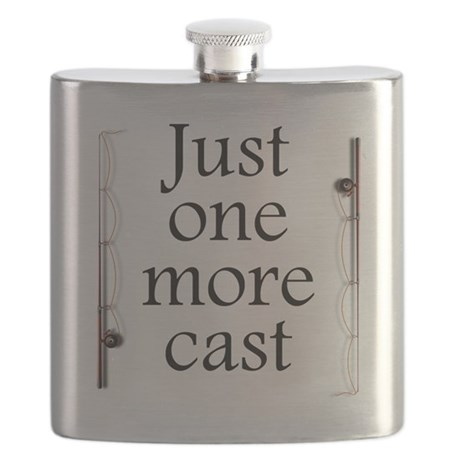 Just One More Cast Flask