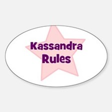 Kassandra Rules Oval Decal