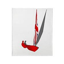 British Dinghy Sailing Throw Blanket