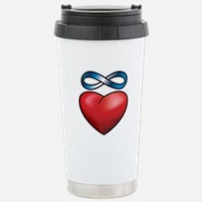 Cute Infinity heart tattoo Travel Mug