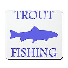 Blue Trout Fishing Mousepad