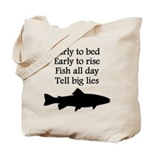 Funny Fish All Day Poem Tote Bag