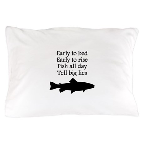 Funny Fish All Day Poem Pillow Case By Giftsforafisherman