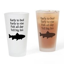 Funny Fish All Day Poem Drinking Glass