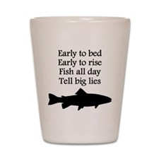Funny Fish All Day Poem Shot Glass