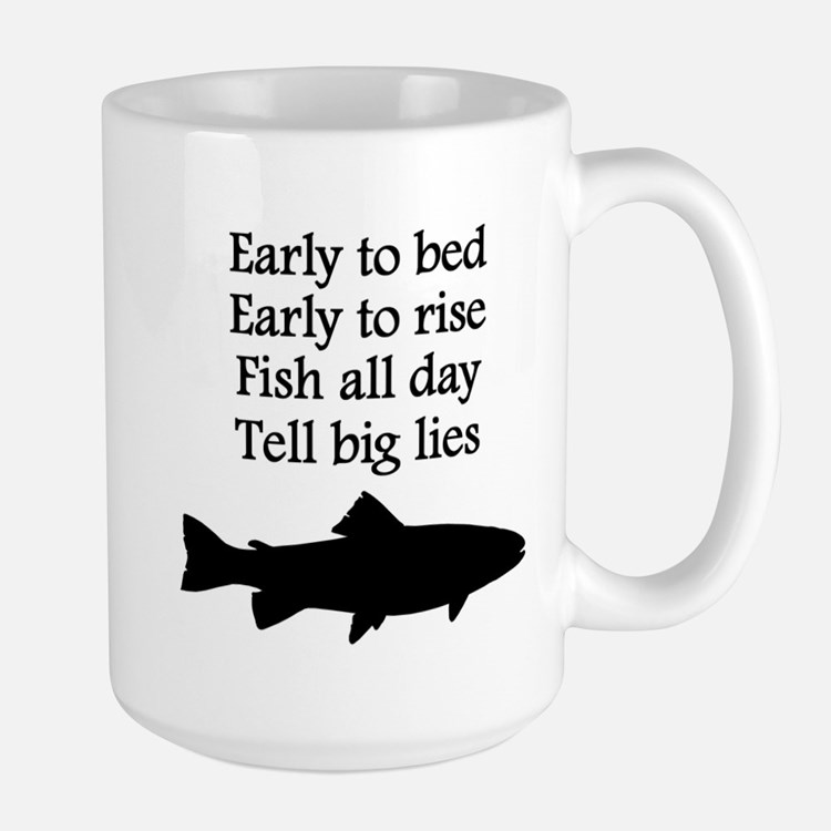 Funny Fish All Day Poem Mug