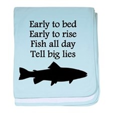 Funny Fish All Day Poem baby blanket