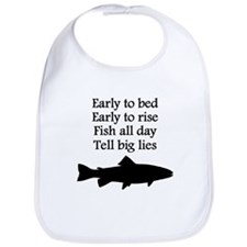 Funny Fish All Day Poem Bib
