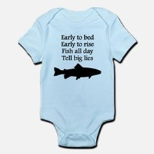 Funny Fish All Day Poem Body Suit