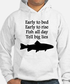Funny Fish All Day Poem Hoodie