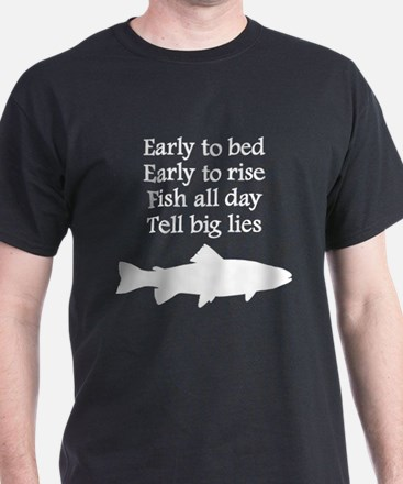Funny Fish All Day Poem T-Shirt