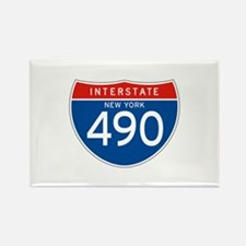 Interstate 490 - NY Rectangle Magnet