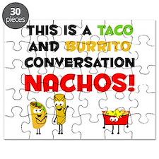 Taco and Burrito Conversation, nachos Puzzle