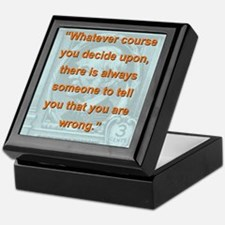 Whatever Course You Decide Upon - RW Emerson Keeps