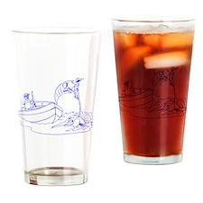 Fishing Cartoon Drinking Glass