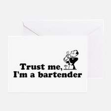 Trust Me I'm a Bartender Greeting Cards (Package o