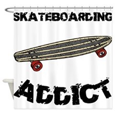 Skateboarding Addict Shower Curtain