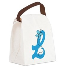 Letter L Monogram Canvas Lunch Bag