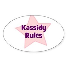 Kassidy Rules Oval Decal