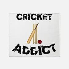 Cricket Addict Throw Blanket