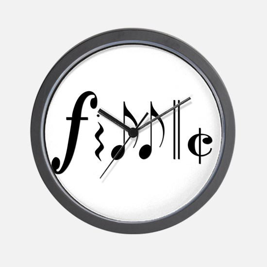 fiddle notes png.png Wall Clock