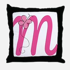 Letter M Monogram Throw Pillow