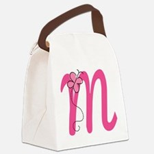 Letter M Monogram Canvas Lunch Bag