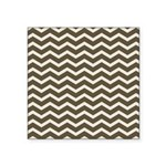 Brown Cocoa Chevron Sticker