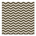 Brown Cocoa Chevron Square Car Magnet 3