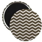 Brown Cocoa Chevron Magnet