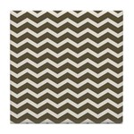 Brown Cocoa Chevron Tile Coaster