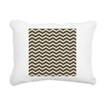 Brown Cocoa Chevron Rectangular Canvas Pillow