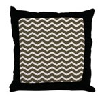 Brown Cocoa Chevron Throw Pillow