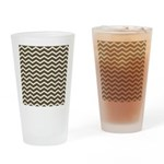 Brown Cocoa Chevron Drinking Glass
