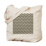 Brown Cocoa Chevron Tote Bag