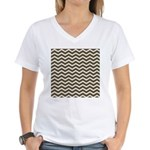 Brown Cocoa Chevron T-Shirt