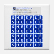 Anti Social Media Word Find Tile Coaster