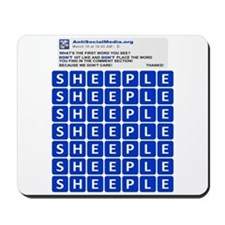 Anti Social Media Word Find Mousepad